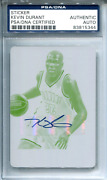 Kevin Durant Autographed 2014 Panini National Treasures Yellow Plate Card Psa