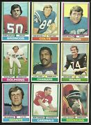 1974 Topps Football- Pick Choose Finish Your Set Cards 251-528 Nm