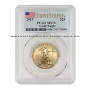 2019 25 Gold Eagle Pcgs Ms70 Fs First Strike Flag Label American Bullion Coin