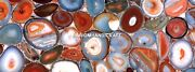 Red Agate Dining Marble Table Random Work Elegant Inlay Decoration Kitchen H5592