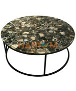 42 Black Agate Stone Top Dining Table With 18 Stand Cafeteria Decors A087b