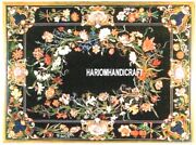 Marble Inlay Italian Floral Beautifully Designed Rare Table Top Arts Decor H3251