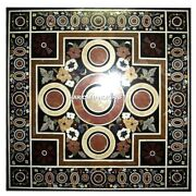 Marble Dinette Table Modern Adornment Floral Inlay Decor Restaurant Arts H4332