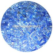 42 Marble Dining Table Top Lapis Lazuli Marquetry Inlaid Home Decor