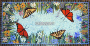 Beautiful Inlay Lapis Marble Table Butterfly Floral Dining Tops Home Decor H3821