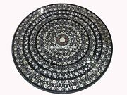 Mother Of Pearl Stone Marble Dining Top Inlay Arts Office Table Decoration H4335