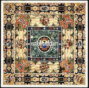 Marble Marvelous Pietradura Dining Table Top Collectible Fine Inlaid Decor H3959