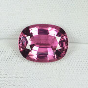 4.96cts Amazing Fire Best Color Natural Sweet Pink Tourmaline Cushion Cut...