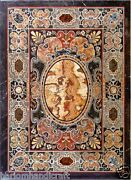 4and039x2and039 Marble Dining Center Table Top Real Mosaic Pietradure Inlay Art H1480