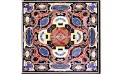 Marble Interior Art Dining Table Top Scagliola Conference Inlay Decorative H5637
