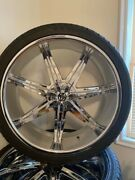 26'' Chrome Rims And Tires Used