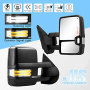 Switchback Dynamic Singal Towing Mirrors For Sierra Silverado 07-14 Power Heated