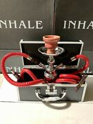 Inhale®️10 Inch 2 Hose Avalanche Small Pumpkin Hookah In A Hard Suitcasered