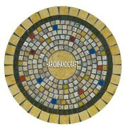 Marble Corner Coffee Table Top Mosaic Inlay Kitchen Collectible Decor Home H3968