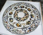 3and039x3and039 Marble Dining Coffee Table Top Grand Pietredura Mosaic Inlaid Royal Decor