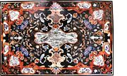 Occasional Marble Creative Dining Table Inlaid Mosaic Furniture Decorate H5619