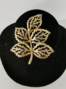 Vintage Sarah Coventry Gb Brooch Gold Tone Autumnal- Beautiful