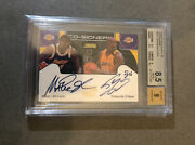 2000-2001 Sc Cosigners Magic Johnson Shaquille Oneal Beckett 8.5 Auto Lakers 🔥