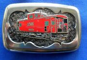 Norfolk And Western Railroad Red Caboose Belt Buckle