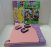 Leap Frog Leap Pad Learning System Model 57-000 W/3 Books And 3 Cartriges