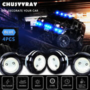 4x Waterproof Led Rock Light For Jeep Suv Off-road Truck Underbody Trail Blue