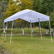 Folding Outside Party And Event Cabana Tent W/ Roller Bag And Uv-resistant Roof