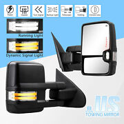 Switchback Dynamic Singal Towing Mirrors For Sierra Silverado 14 18 Power Heated