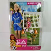 Barbie You Can Be Anything - Soccer Coach Playset - Blonde Soccer Coach Doll
