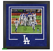 Los Angeles Dodgers Signed 16 X 20 2020 Mlb World Series Champions Photo Frame
