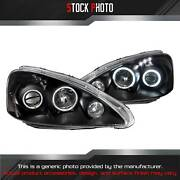 Anzo Black Ccfl Halo Projector Led Headlights For 2005 Acura Rsx 121197
