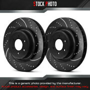 Ebc Brakes Dimpled And Slotted Vented 1-piece F Brake Rotors For 05-17 Wrx Sti