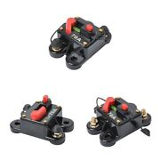 3x 70amp Audio Inline Fuse Holder Circuit Breaker Reset Switch With Terminal