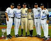 New York Yankees Signed 16and039and039 X 20and039 Perfect Game Pitchers And Catchers Photo