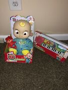 New Cocomelon Musical Keyboard Piano Toy Jj Play And Sing Along And Jj Plush Doll