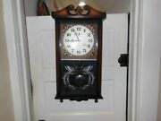 Lava Wooden 31 Day Grandfather Wall Clock With Peacock Etched Glass