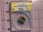2017-p Wddr-010 Ms 64 5.5 Full Steps Jefferson Nickel Extremely Rare