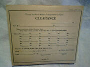 1960and039s Chicago And Northwestern Railroad Clearance Forms Unused Padtrain Orders