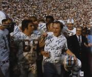 1972 Miami Dolphins Signed 20 X 24 Shula Walking Photograph