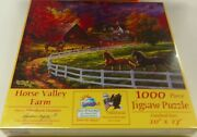 Jigsaw Puzzle Horse Valley Farm 1000 Pieces 20 X 27 Abraham Hunter Fall Colo