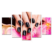 Beautiful Nails Salon Poster Canvas Print Painting Home Decor Wall Art Framed 5p