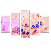 Beautiful Nails Salon Wall Art Poster Canvas Print Painting Home Decor Framed 5p