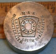 1922 Sevierville Tn Mountain View Chapter Ram Masonic Shekel Stamping Die Lilley