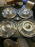 59/62 Corvette Hub Cap Set New Reproduction In The Box 4 With Centers 60 61