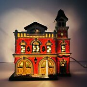 Dickens Collectables Victorian Series 1998 Lighted House Town Hall Andengine House