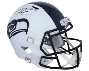 Russell Wilson Seattle Seahawks Signed Riddell Flat White Alternate Speed Helmet