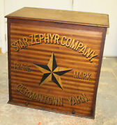 Antique Country Store Germantown Star Zephyr Company Yarn Cabinet