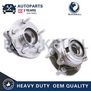 For Nissan Murano Quest W/abs Pair Front Lh And Rh Side Wheel Bearing Hub 5 Lugs