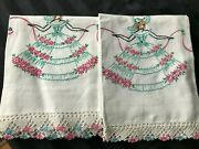 Pair Of Vintage Southern Belle Hand Crochet Pillowcases