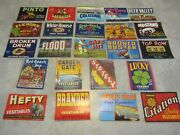 Lot Of 115 Old Vintage 1940's-1950's Vegetable Crate Labels - 23 Different X 5