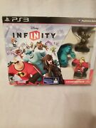 New Ps3 Disney Infinity Starter Pack - Incredibles Monster Inc Jack Sparrow